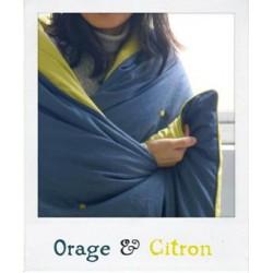Plaid en Soie Orage & Citron