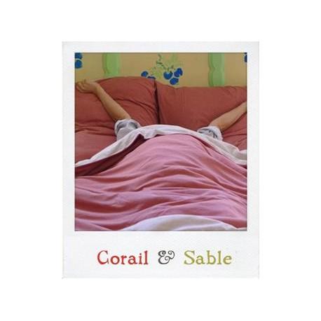 Set Linge de lit en jersey Corail & Sable