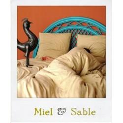 Parure de lit en Jersey Miel & Sable