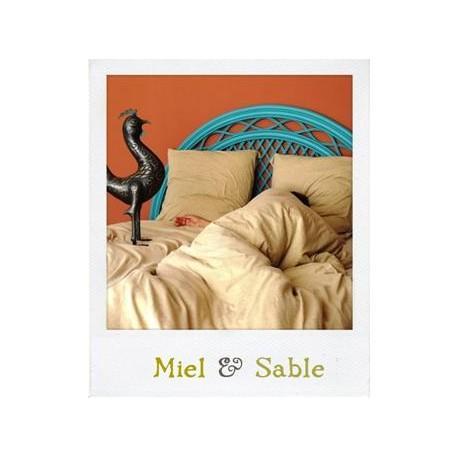Linge de lit en Jersey Miel & sable