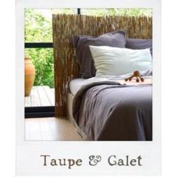 Parure de lit en Jersey Taupe & Galet