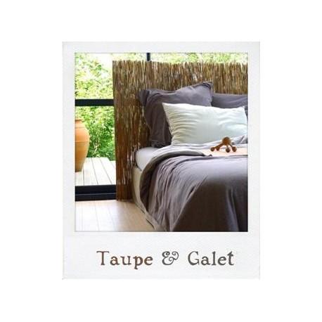 Linge de lit en jersey Taupe & Galet