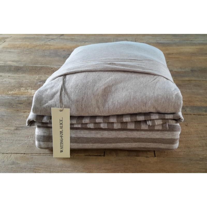 linge de lit jersey de coton housse de couette grise en jersey   Waiting for Alice linge de lit jersey de coton