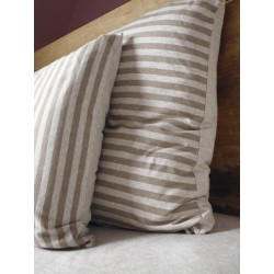 Pillow case Taupe Stripe