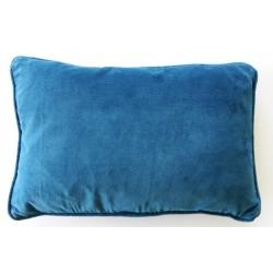 Coussin velours Bleu crépuscule