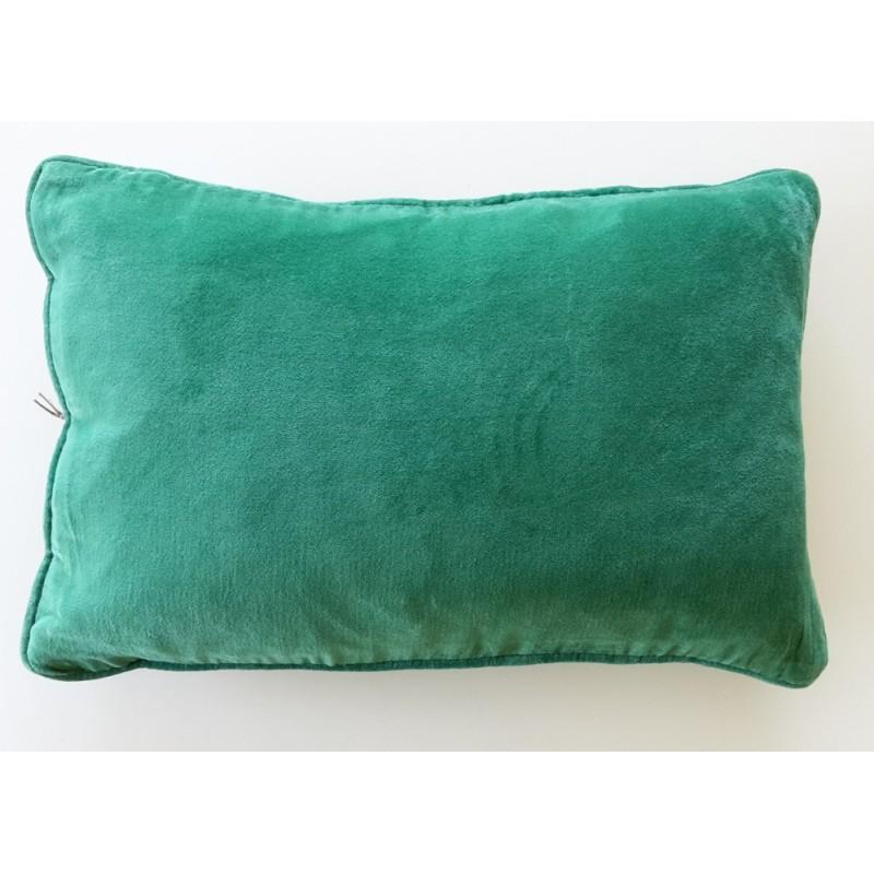 coussin en velours vert avec int rieur. Black Bedroom Furniture Sets. Home Design Ideas