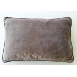 Coussin velours Taupe