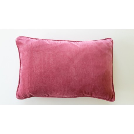 Coussin velours rose Bruyère